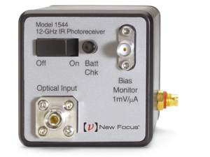 12 GHz fiber-optic receiver new focus photoreceiver model 1544